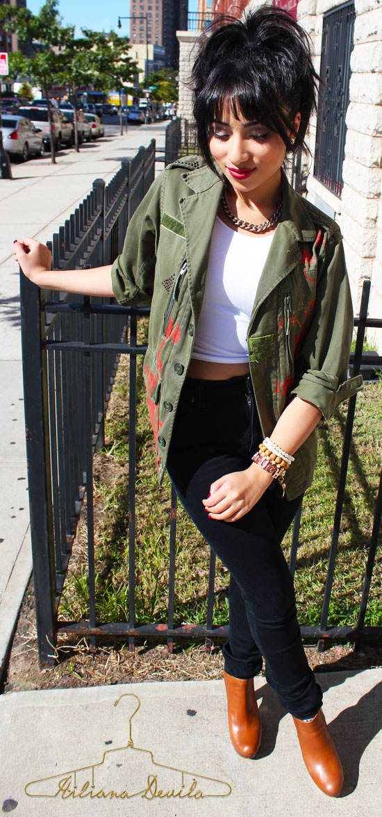 TREND ALERT : The Military Jacket .