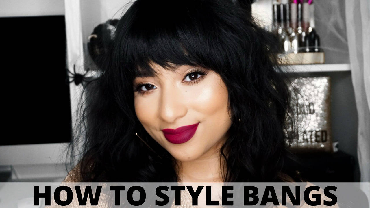 How I Style My Bangs