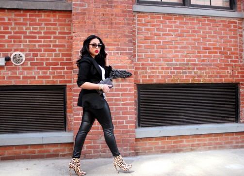 Leather x Leopard